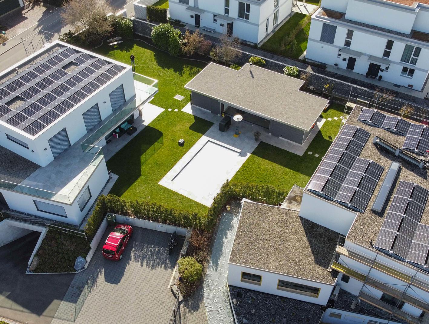 Elektro Compagnoni AG - Zwei Einfamilienhäuser Katzenrüti, Rümlang, Flachdach